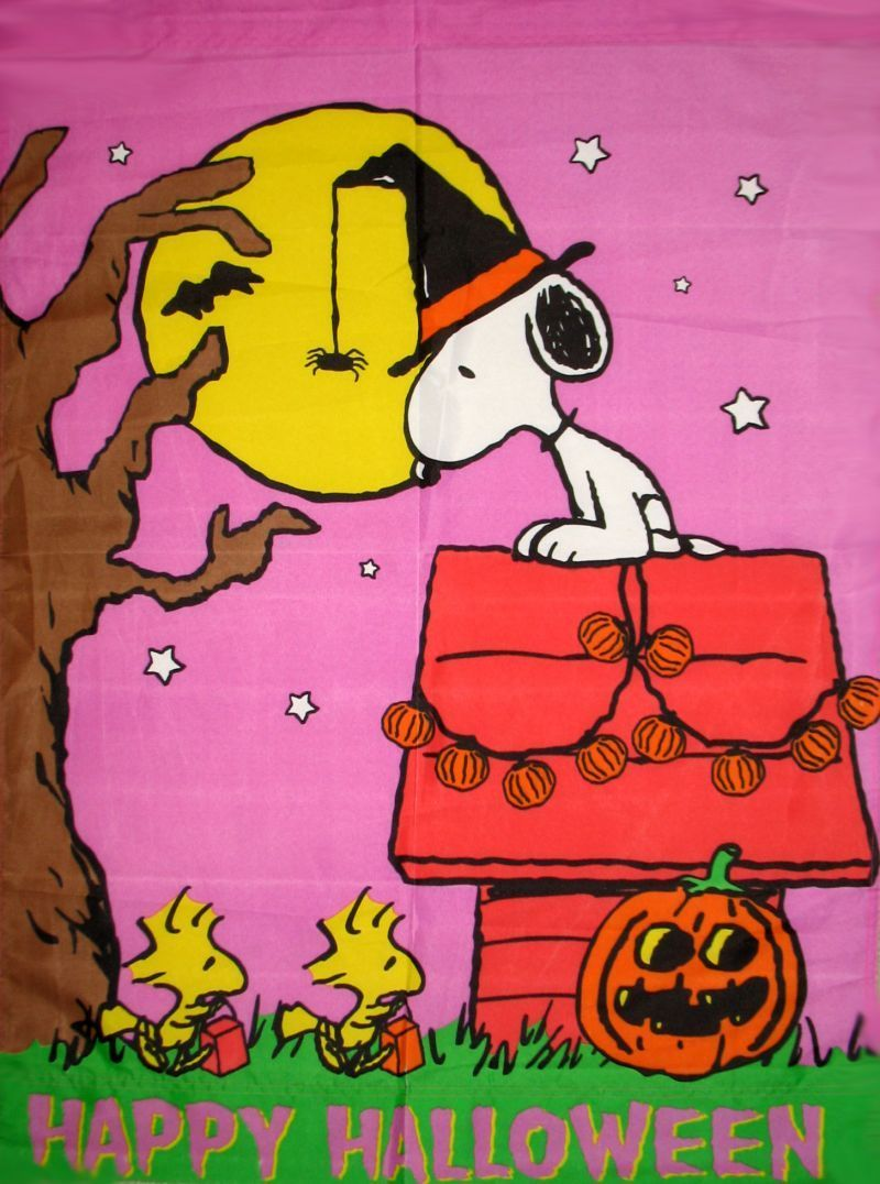 Halloween With Snoopy And Woodstock