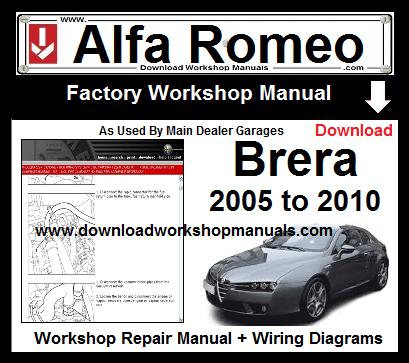 Alfa Romeo Brera Service Repair Workshop Manual Repair Manuals Alfa Romeo Repair