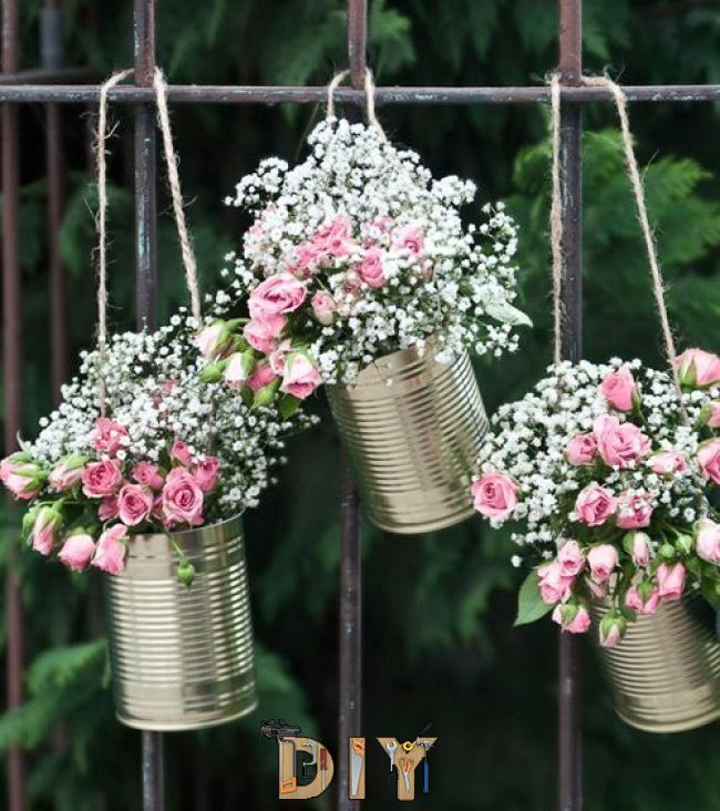 Wedding Website Domain Name Ideas: Garland Made Of Tin Cans – Gold – 5 Pieces