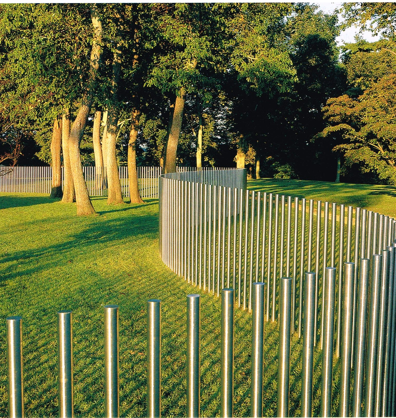 Stainless Steel Post Fence D Reed Modern Farmhouse Exterior Fence Landscape Walls