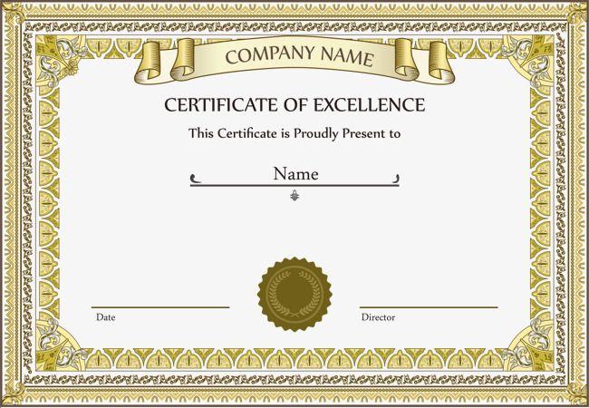 شهادة ناقلات الذهب فريم Diplome Vierge Cadre Diplome Et