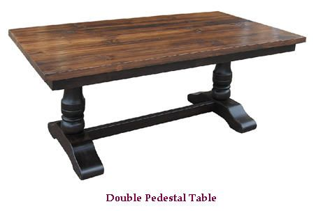 Dining Tables Two Tone Double Pedestal Colors Stains