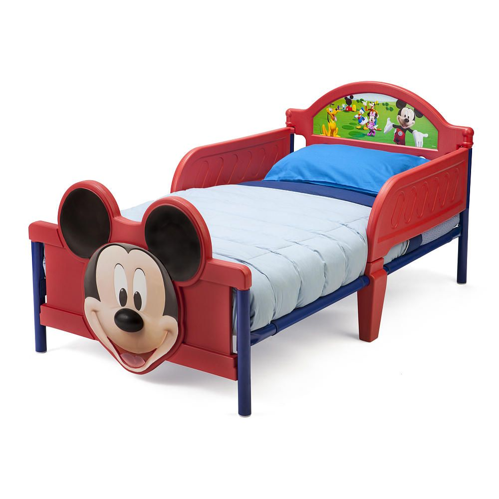 Cool toddler beds for boys - Disney Mickey Mouse 3d Toddler Bed Delta Toys