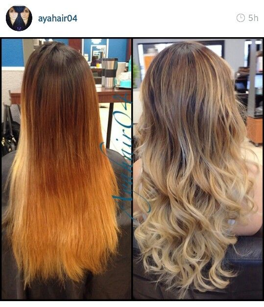 Before After Orange Wowzer To High Blended Ash Blonde Ombre