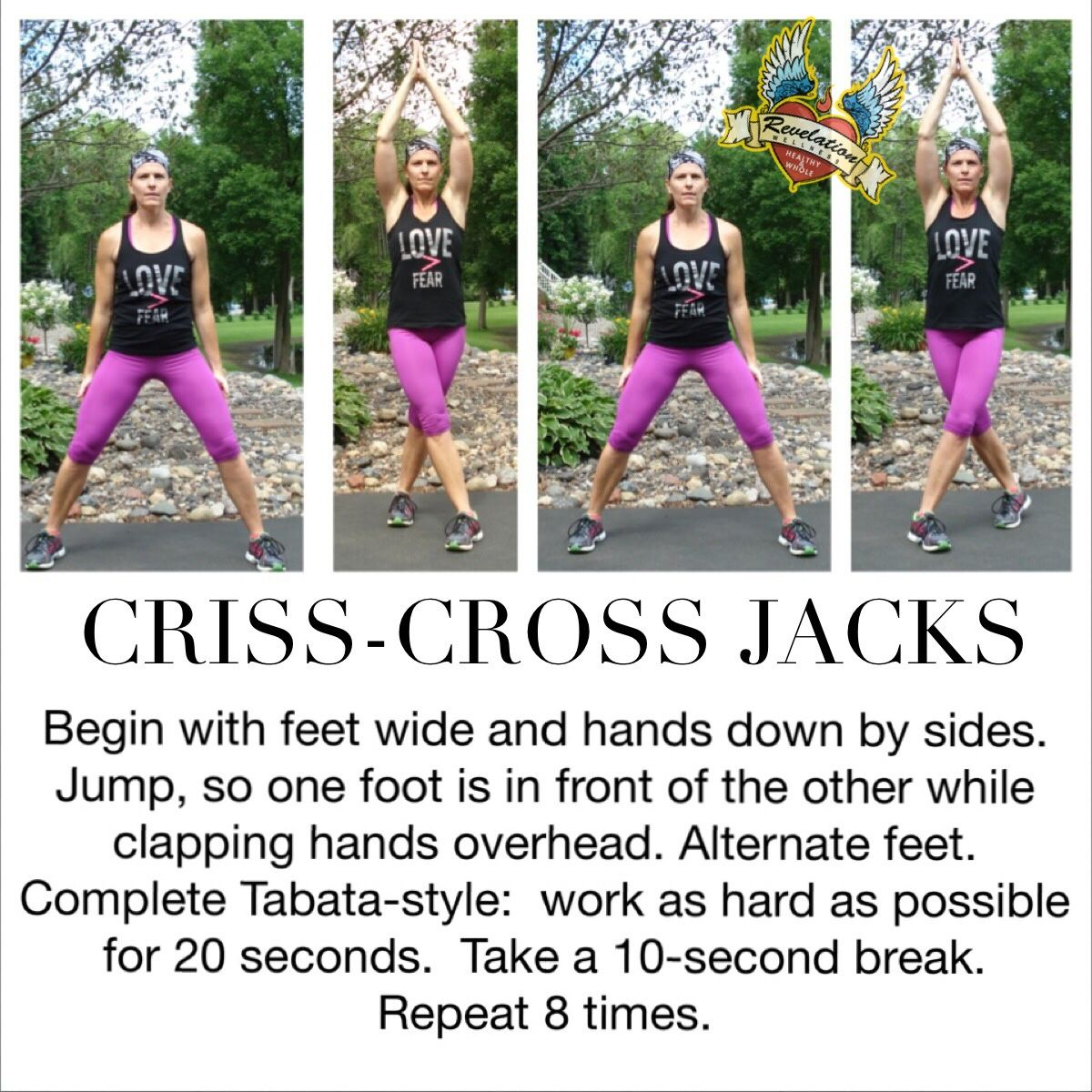 Criss-Cross Jacks! Give it a try! Great workout for the