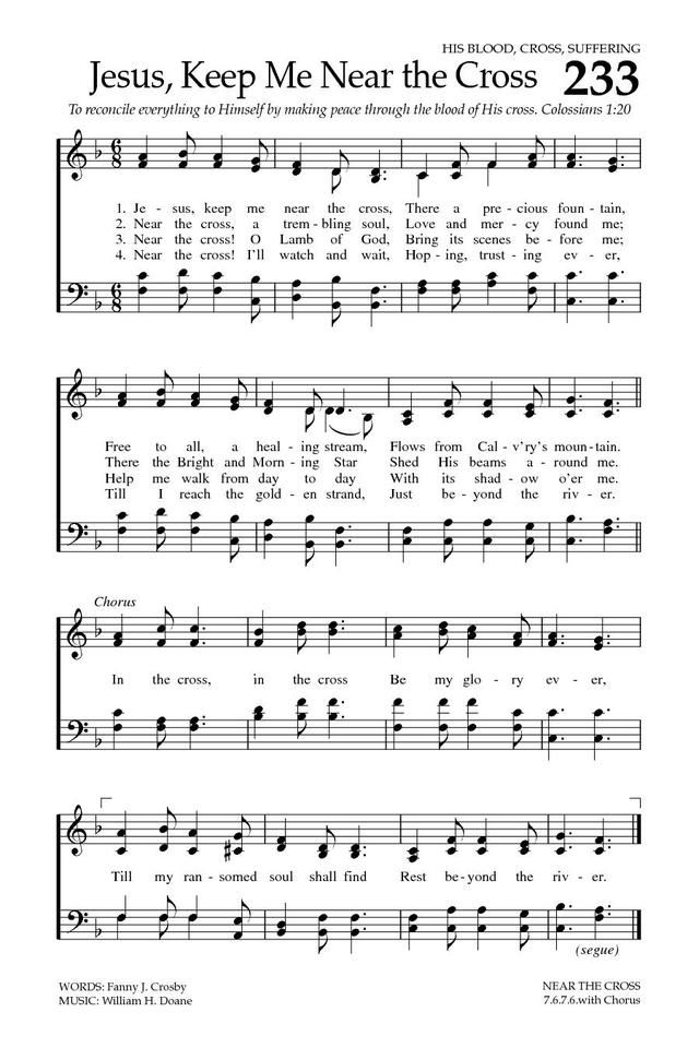 Baptist Hymnal 2008 233 Jesus Keep Me Near The Cross Hymnary
