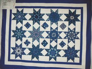Stack and Whack quilt in blues on white by Virginia Varderboegh ... : stack and whack quilt tutorial - Adamdwight.com