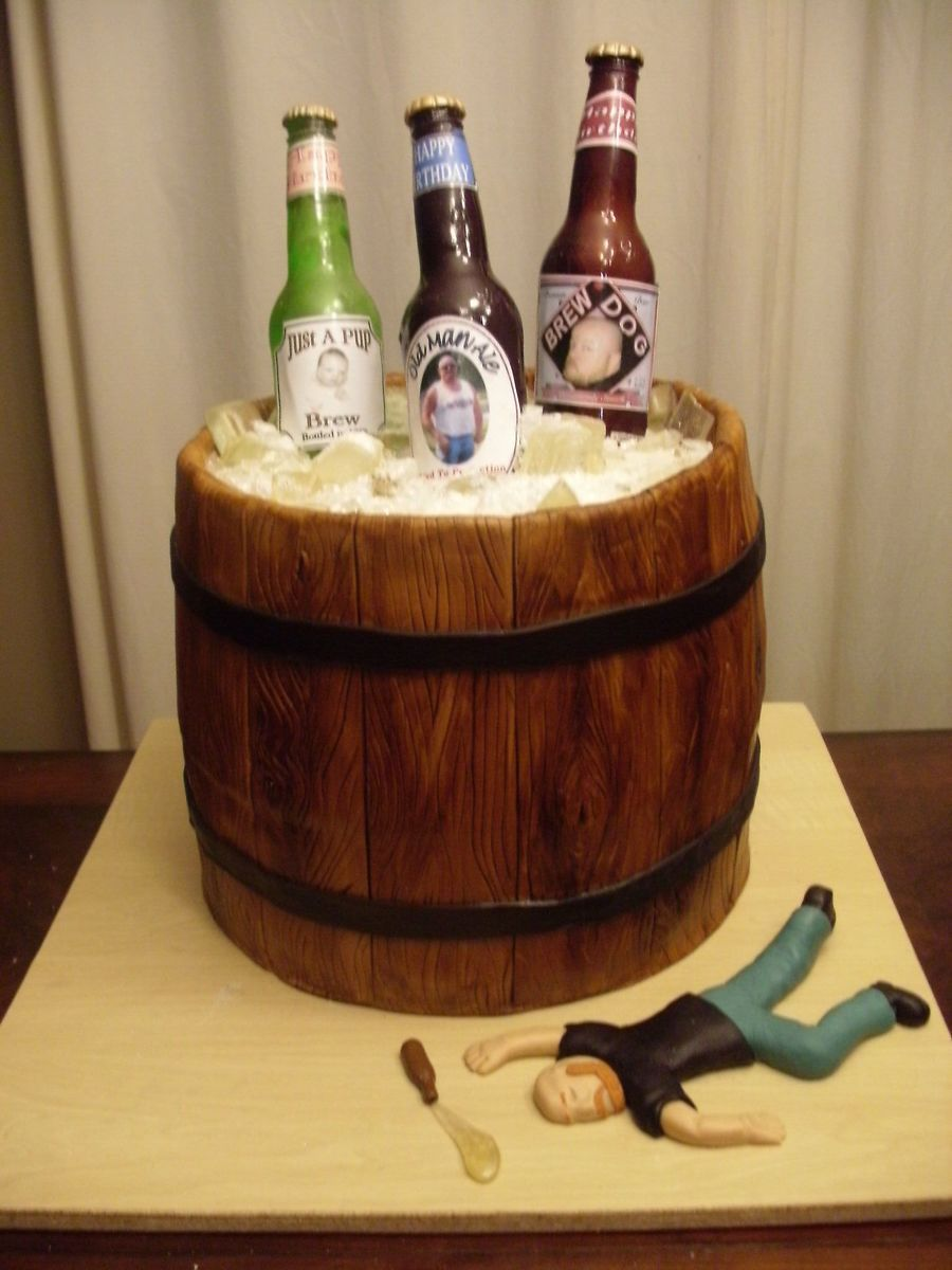 My Beer Barrel Cake Alcohol Related Birthday Parties