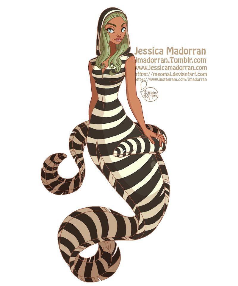 MerMay Day 07 - Zebra Moray Eel Mermaid by MeoMai | DeviantArt