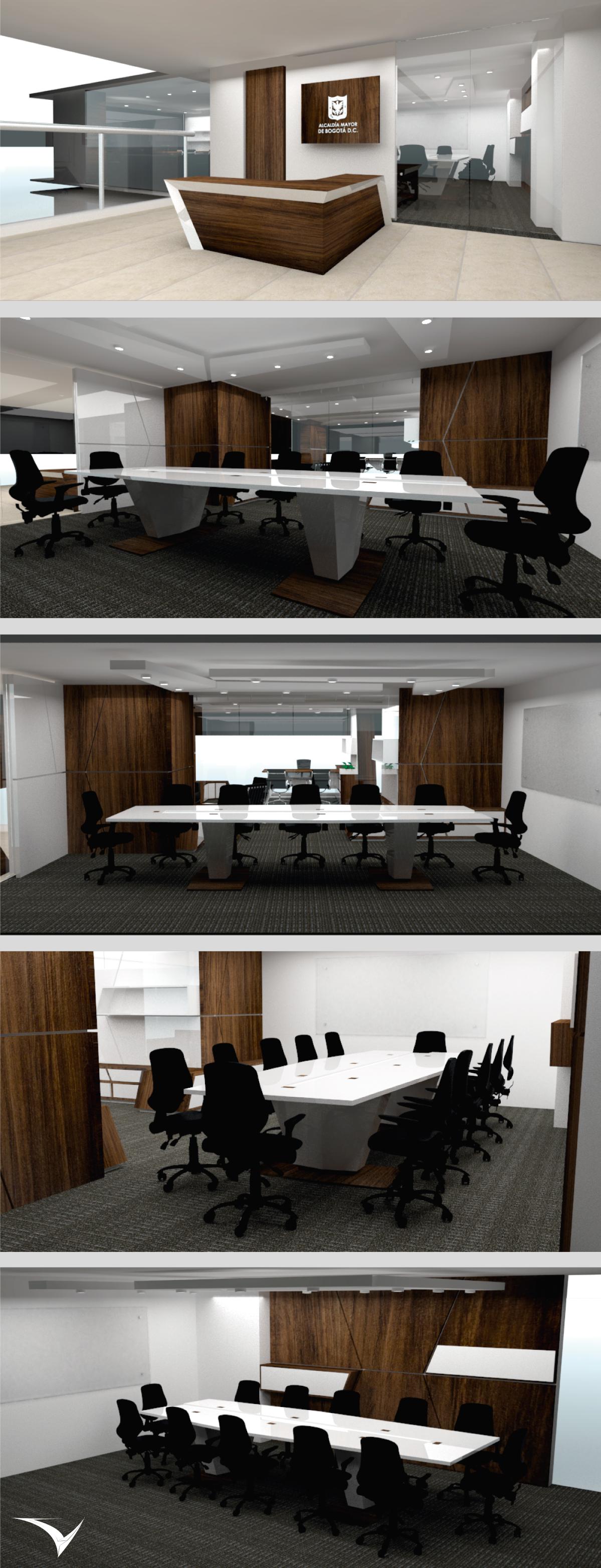 Proyecto De Interiorismo Sala De Juntas Alcald A De Fontib N  # Muebles Fontibon