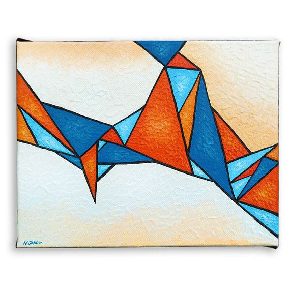 Abstract Art Geometric Art Triangles Original By Http Www Etsy