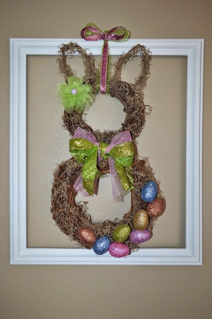 How ADORABLE!!!   Hop to it: How to make a Spring Easter Bunny Wreath ~ Thrifty Artsy Girl