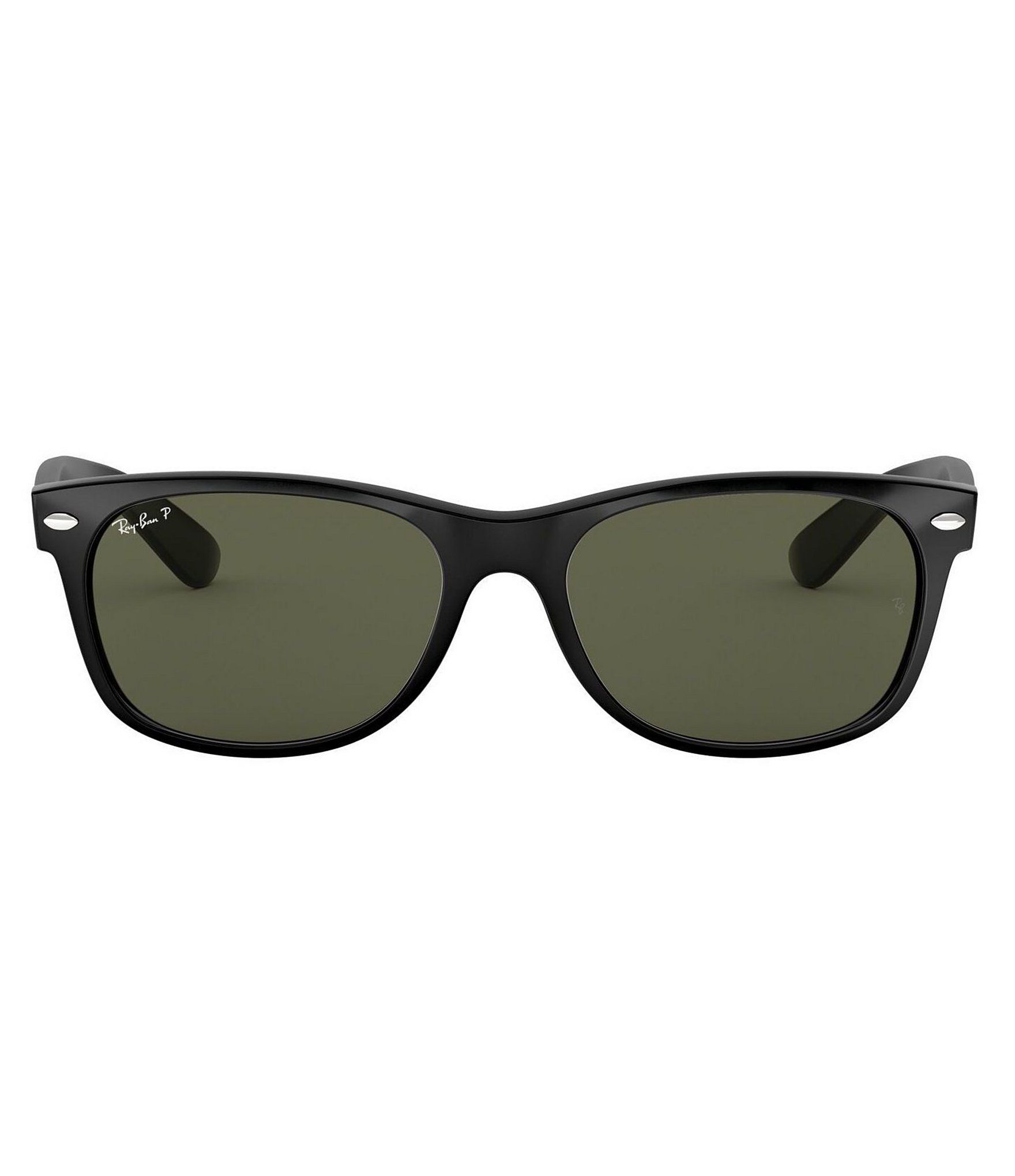Ray Ban New Wayfarer Polarized Sunglasses Black Polar NA