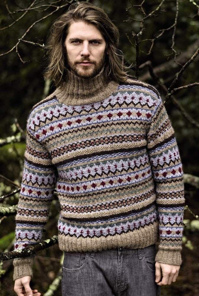 Fair Isle sweater in Rowan Lima | Autumn Knits by Rowan | Black ...