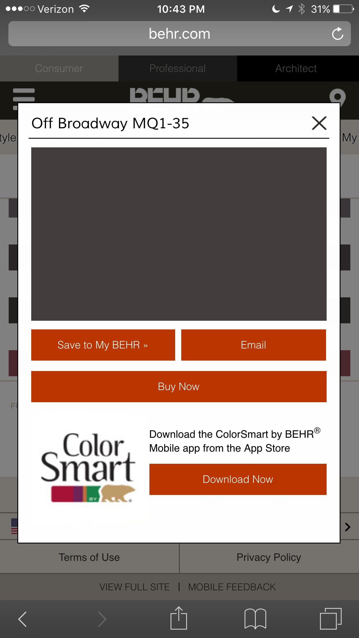 """Off Broadway"" Behr paint Home ideas App store, Behr"