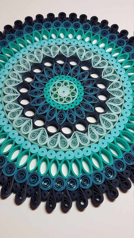 Paper Quilled Mandala - 9x9 #paperpatterns