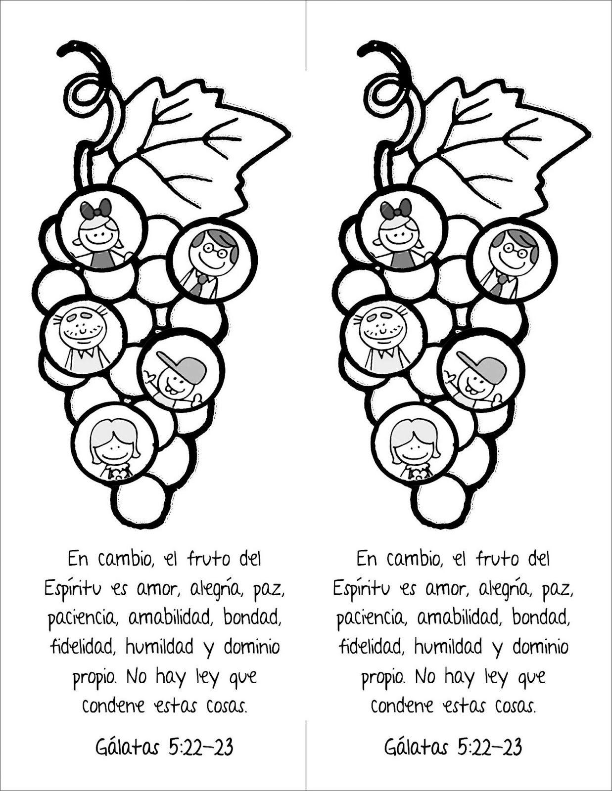 Biblia Ideas: Frutos de Espiritu Santo | Frutos del Espírtu ...