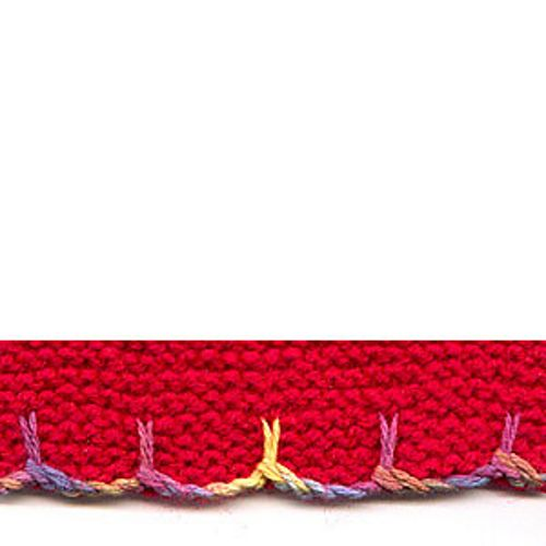 Slip Stitch Knitting Edge : Slip Stitch Scalloped Edging, free pattern by Sarah Bradberry crochet tutor...