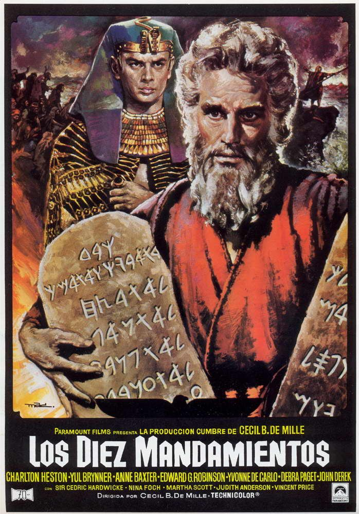 Los diez mandamientos estrenada en 1956 fue una de las peliculas cristianas mas famosas y con - Los 10 locos mandamientos ...