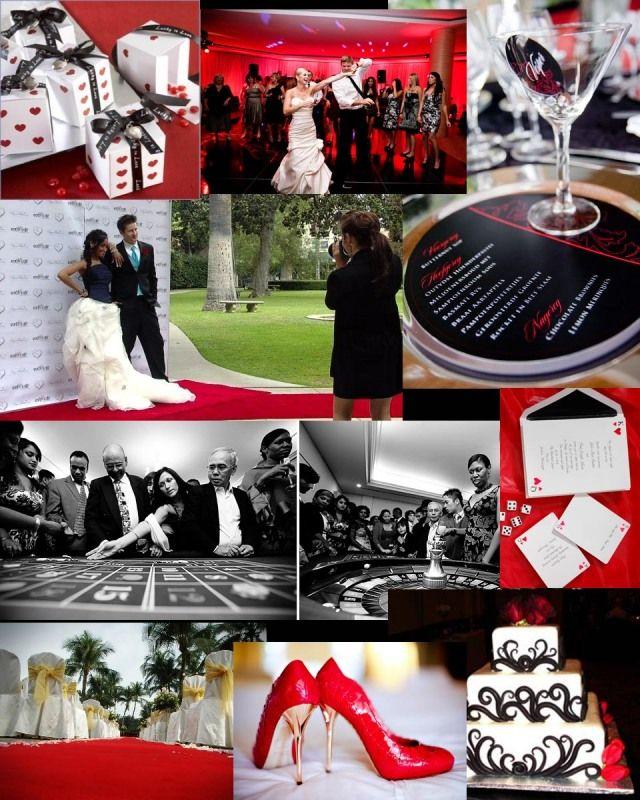 casino theme wedding ideas