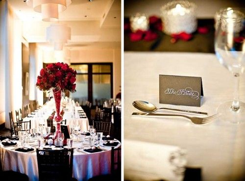 ivory and red wedding | Red Black And Ivory Wedding | Save the Date ...