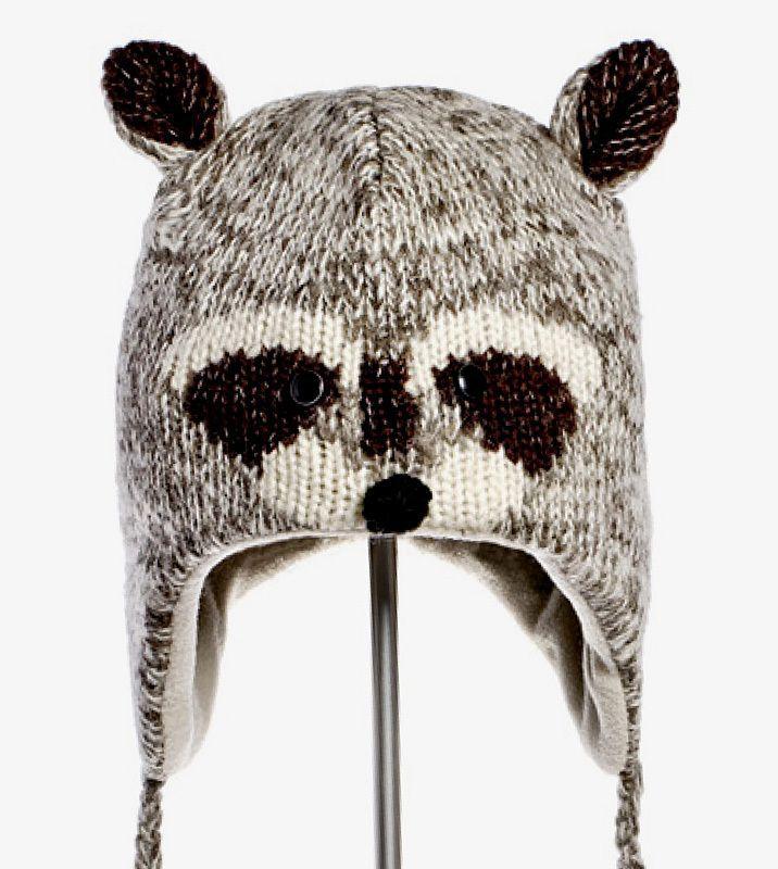 Robbie Raccoon Knit Hat - Kids Size  a1c0292b49f6