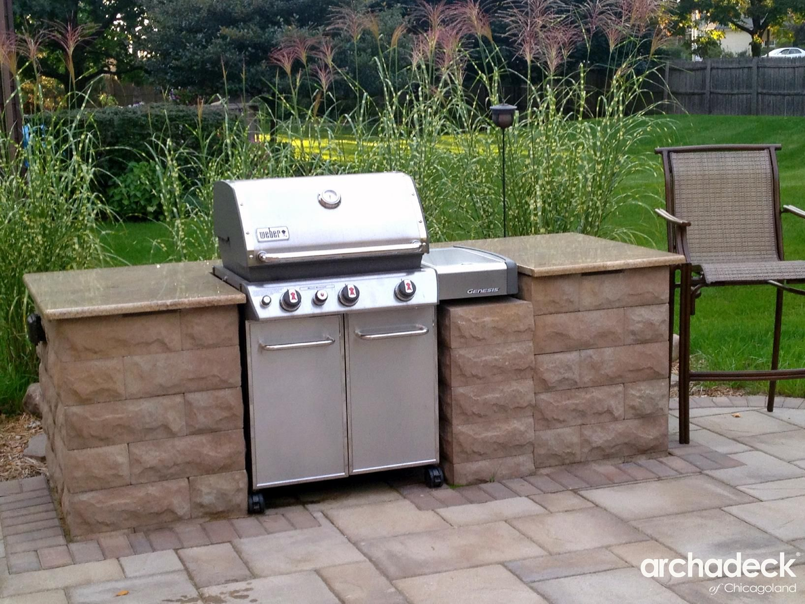 Image Result For Gas Grill Surround Patio Builders Outdoor Bbq Area Patio Fire Pit