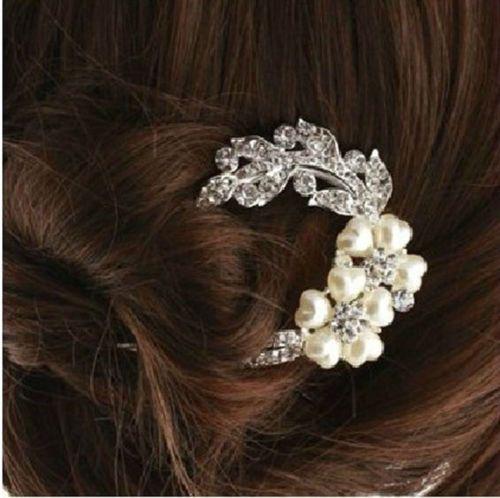 $1.99 ebay Bridal-Wedding-Inlaid-Crystal-Rhinestone-Flower-Hair-Clip-Comb-Pin-Headband-New