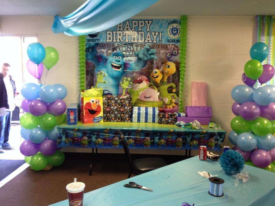 Monsters Inc Birthday Party Ideas Photo 8 Of 26 Monster Inc Birthday Baby Boy 1st Birthday Party Toddler Birthday Party