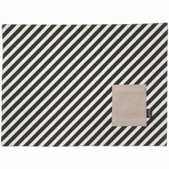 Black Stripe Placemat From Ferm Living By Ferm Living Danish Furniture Design Fancy Houses Ferm Living