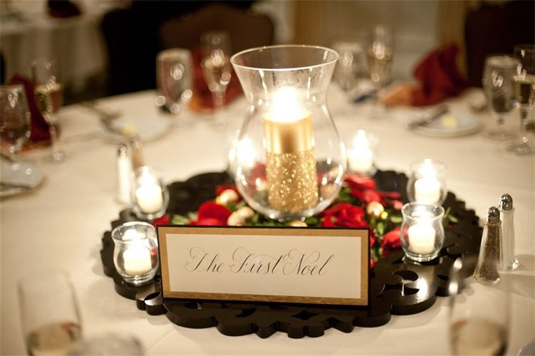 Christmas Wedding Table Table Name Cards By Dancing Pen On Etsy