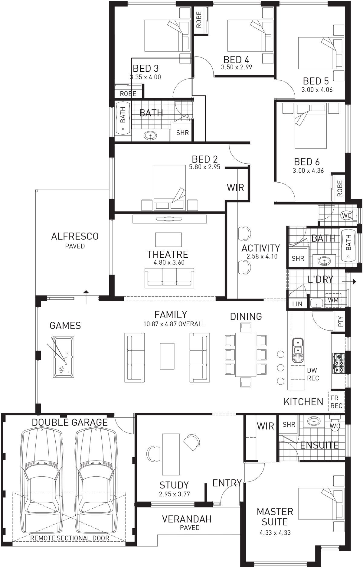 House Designs Home Designs Plunkett Homes Family House Plans Large Family House Plan Dream House Plans