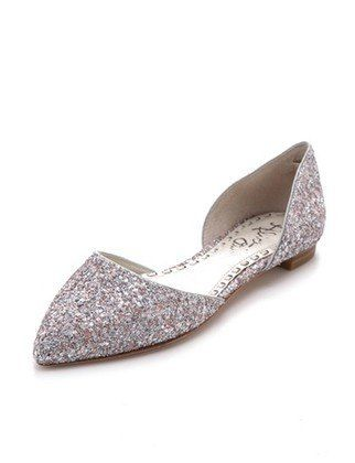 2ca4019c1edffc Silver sparkly flats for the Summer.
