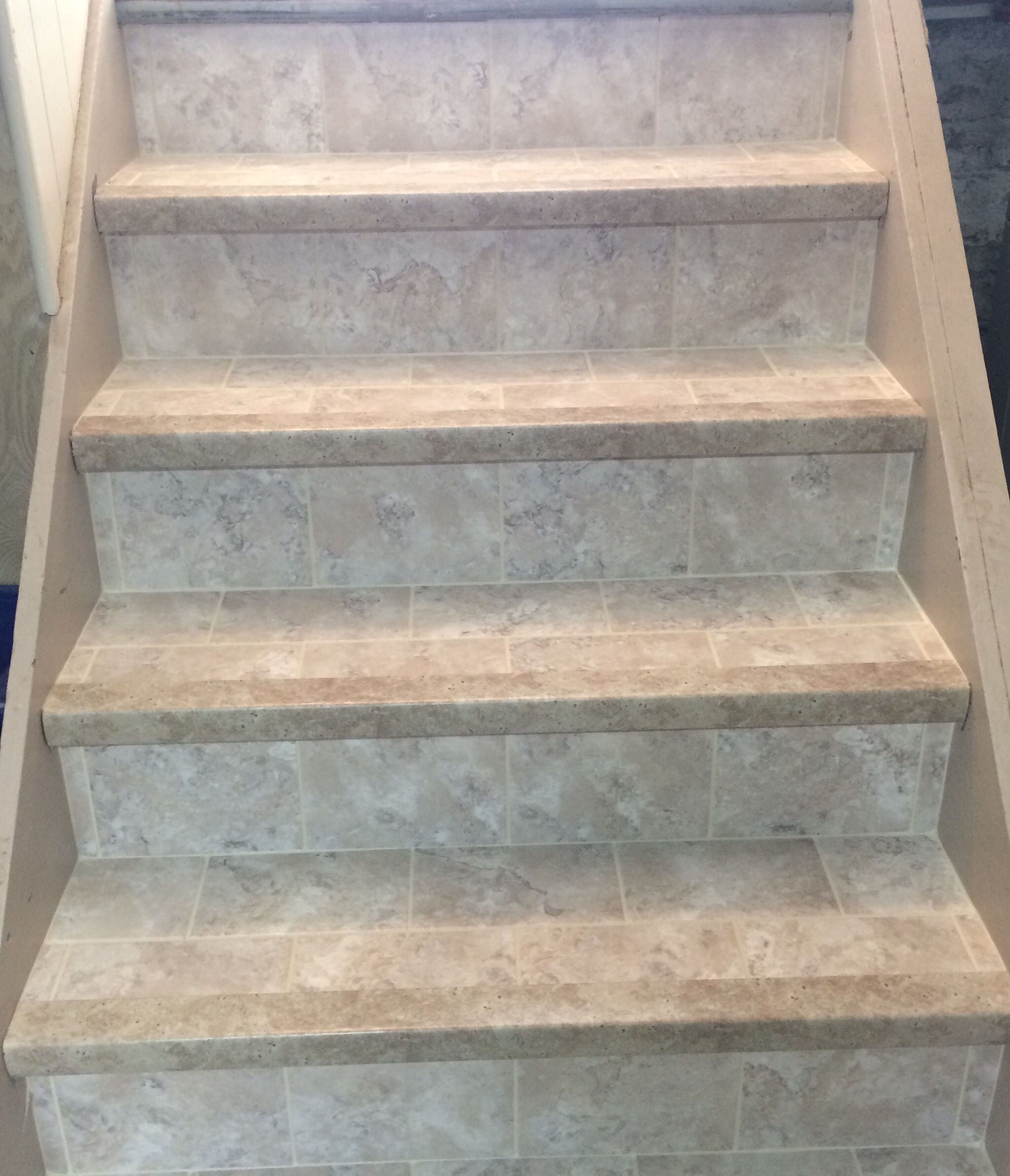 Luxury Vinyl Tile On This Staircase Using Armstrong Alterna!