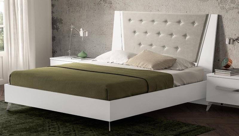 Liora contemporary bedroom furniture in white high gloss finish