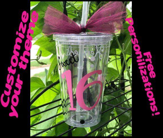 Sweet 16 Gift Cup Birthday Favors Sixteen Sixteenth Im