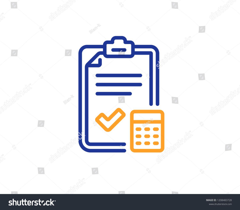 Accounting Checklist Line Icon