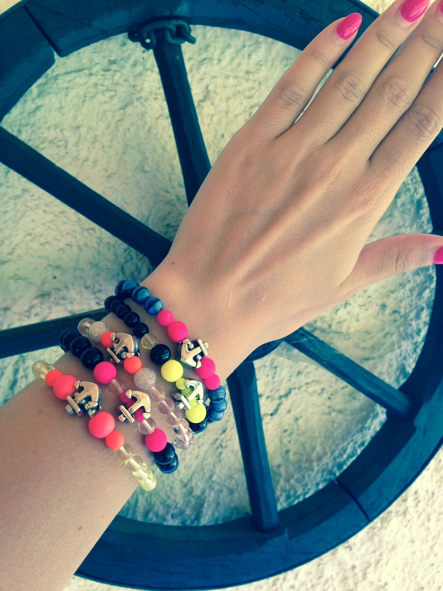 #FriendshipBracelets #BraceletsForFun #BraceletsLucky #BraceletsForAbundance #BraceletsOfLove #BraceletsForYou #Pink #DarkPink #Beads  #anchor #SailorStyle #SummerLokk #Summer #colours https://www.facebook.com/ensistore