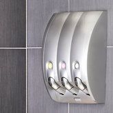 Curve Shampoo Dispenser Silver