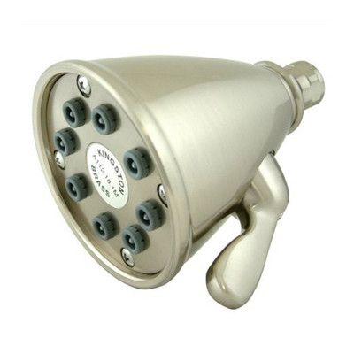Elements of Design Hot Springs 8 Nozzles Power Jet Volume Control Shower Head Finish: Satin Nickel