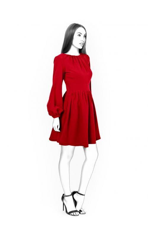 Lekala 4431 - Kleid PDF Muster, Nähmuster PDF, Maßgeschneiderte ...