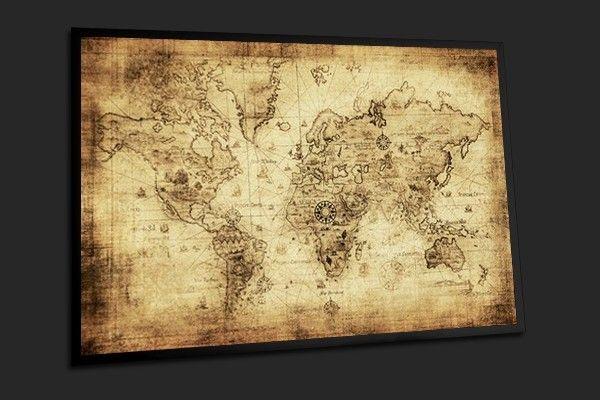 tableau photo encadr carte du monde vintage cartes du monde pinterest carte du monde. Black Bedroom Furniture Sets. Home Design Ideas