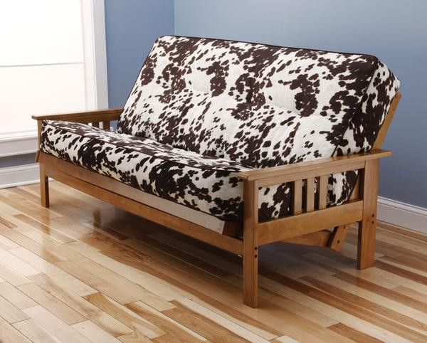 Recliner Sofa Andover Full Size Futon Sofa Bed Honey Oak Wood Frame Bonded Leather Innerspring Mattress Saddle Products Pinterest Full size futon and Bonded