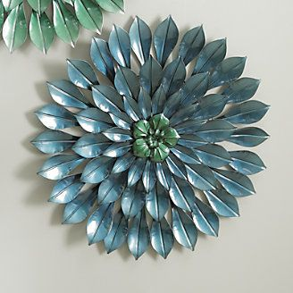 Wall Art, Color Burst Blue Flower from Through the Country Door®