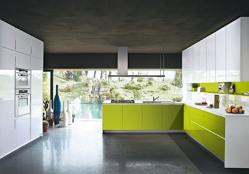 Contemporary Italian Kitchen Offers Functional Storage Solutions