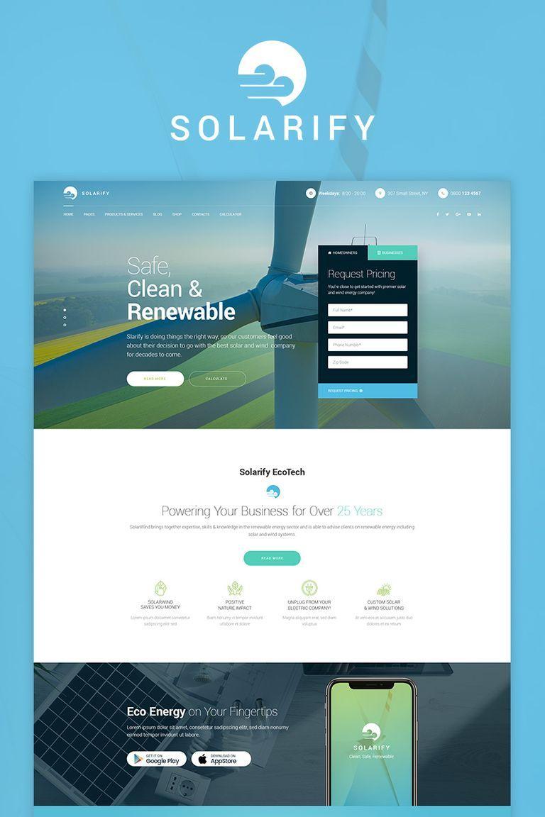 Solarify Alternative Eco Energy Wordpress Theme 73652 With Images Solar Energy Diy Solar Energy Save Energy