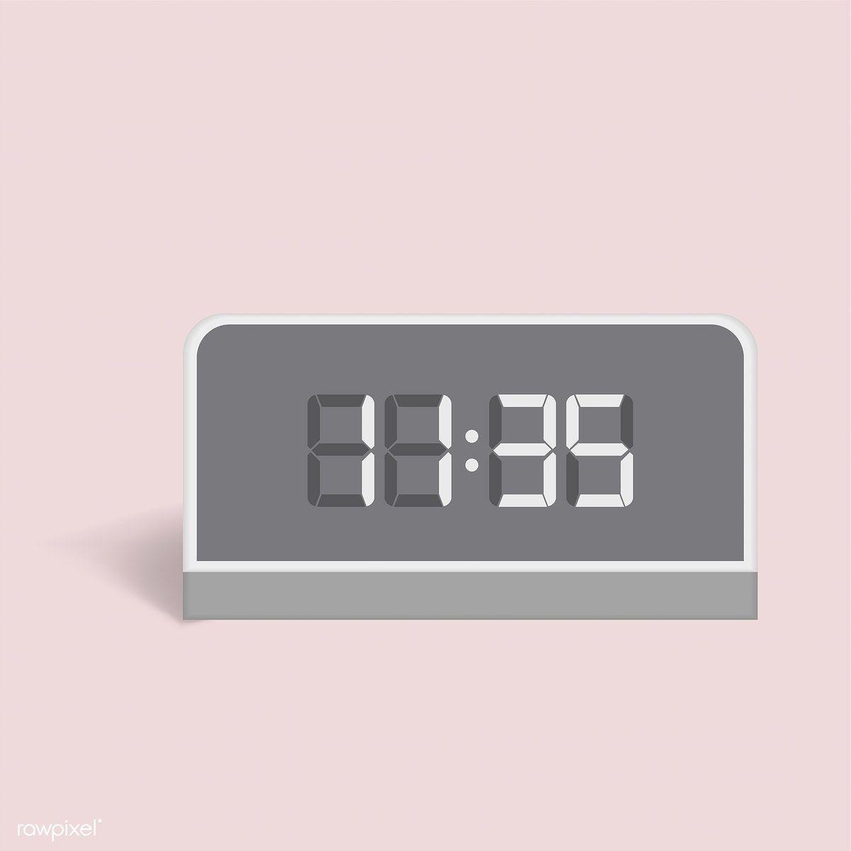 Vector Image Of Digital Alarm Clock Icon Free Image By Rawpixel Com Clock Icon Alarm Clock Digital Alarm Clock