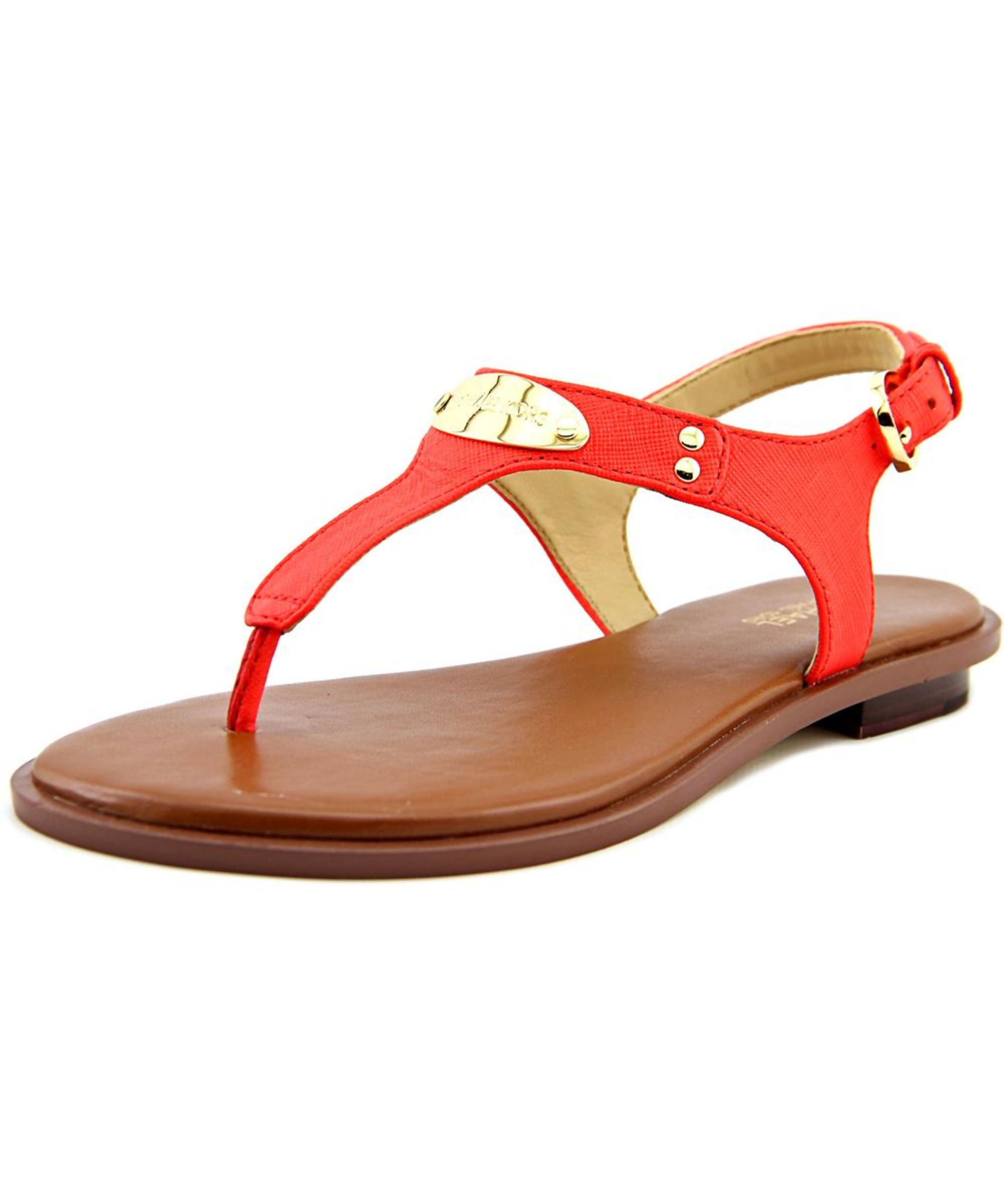 483f0ac72 MICHAEL KORS | Michael Kors Mk Plate Thong Women Open Toe Leather Thong  Sandal #Shoes #Sandals #MICHAEL KORS