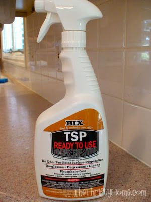 Another Pinner Wrote: Painting Cabinets: Instead Of Sanding, Clean Cabinets  With TSP (Polyurethane Is The Key To Keep Paint From Peeling/Chipping)