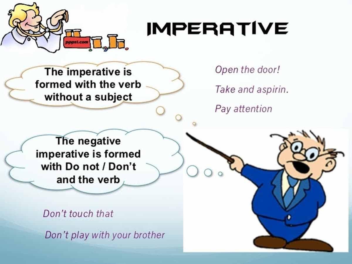 Imperative Sentences Definition Examples Teaching English